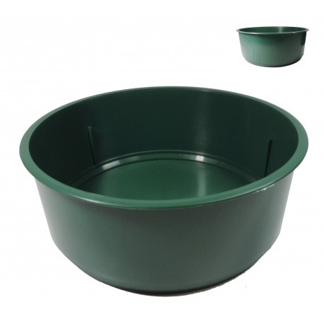 Centro Plástico Verde Ø18 cm