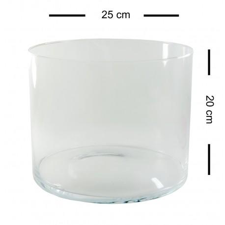 Cilindro Cristal ↕20 x Ø25 cm