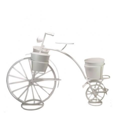 Bicicleta macetero triple forja blanco 90cm x 63cm - Bicicleta macetero ...