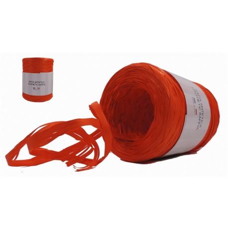 Rafia Sintética 200 Mts x 5 mm Naranja
