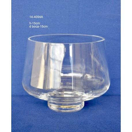 Jarrón Cristal H.15 D.Boca 15 cm
