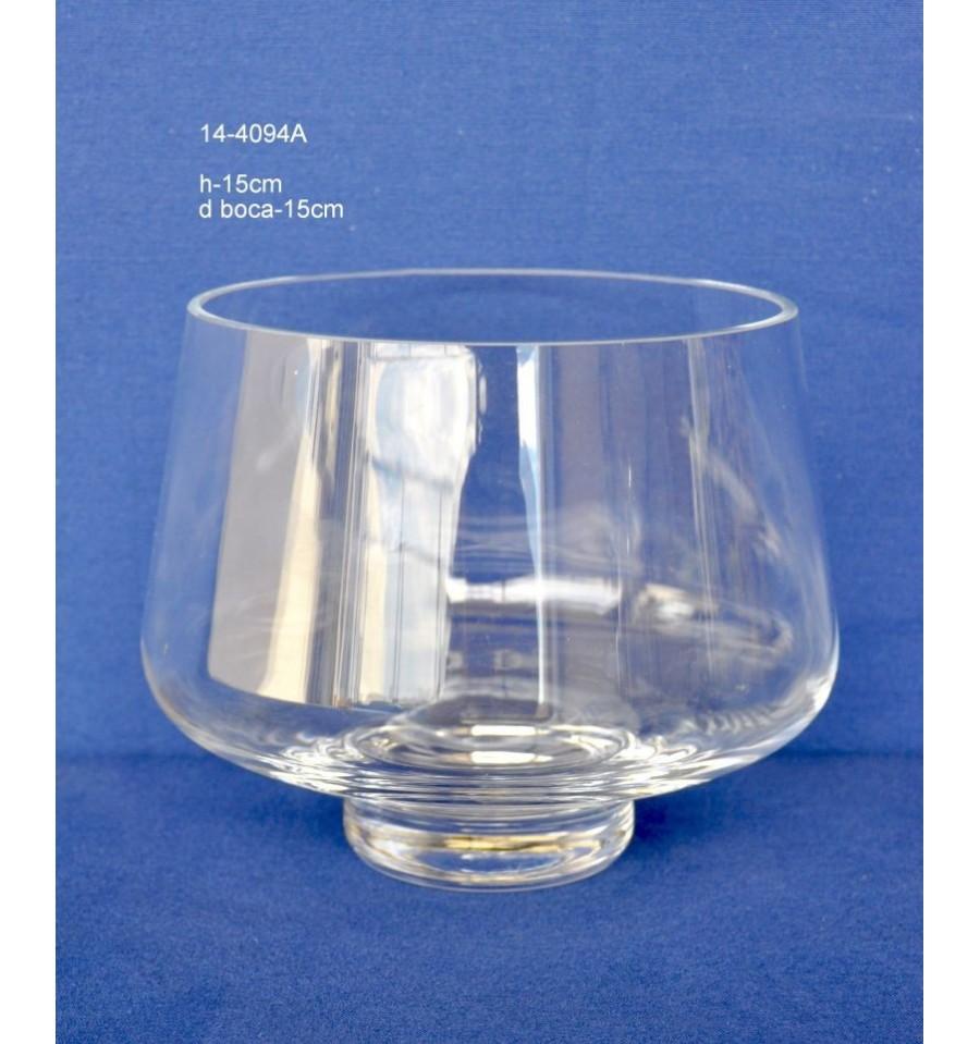 Jarr n cristal d boca 15 cm artesanos de la flor for Jarron cristal