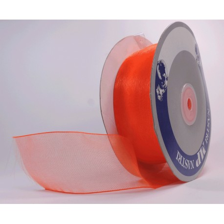 Rollo Organza 40mm Coral