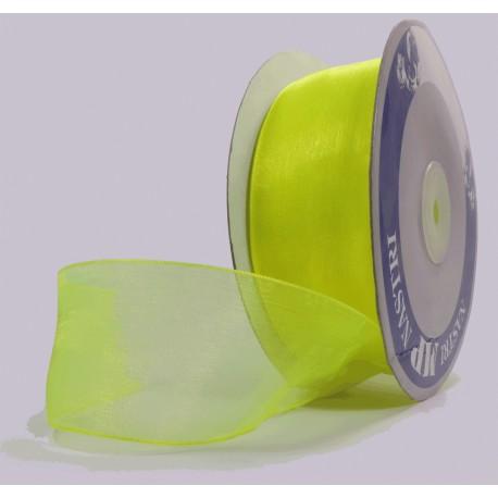 Rollo Organza 40mm Verde Neon