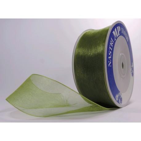 Rollo Organza 40mm Verde Oliva