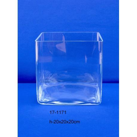 Centro Cristal Cuadrado 20x20x20 cm