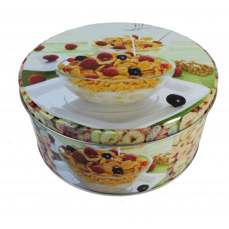 Caja Redonda Metal Deco Cereal