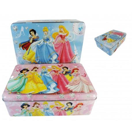 Caja Rectangular Metal Deco Princesas 2Mod